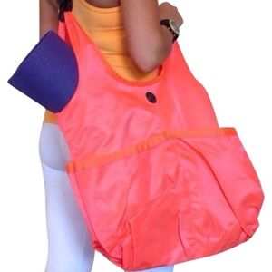 Lululemon Neon Orange Tote Bag Post Savasana